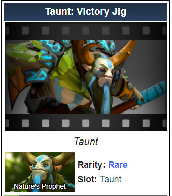 Taunt: Victory Jig (Nature Prophet)
