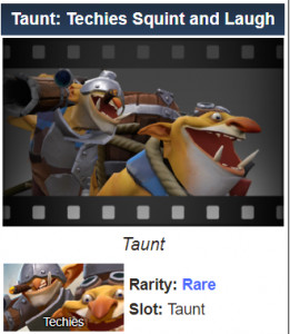 Taunt: Techies Squint and Laugh (Techies)