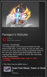 Paragon's Rebuke IMO omniknight TI8