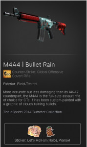 M4A4 | Bullet Rain (Covert Rifle)