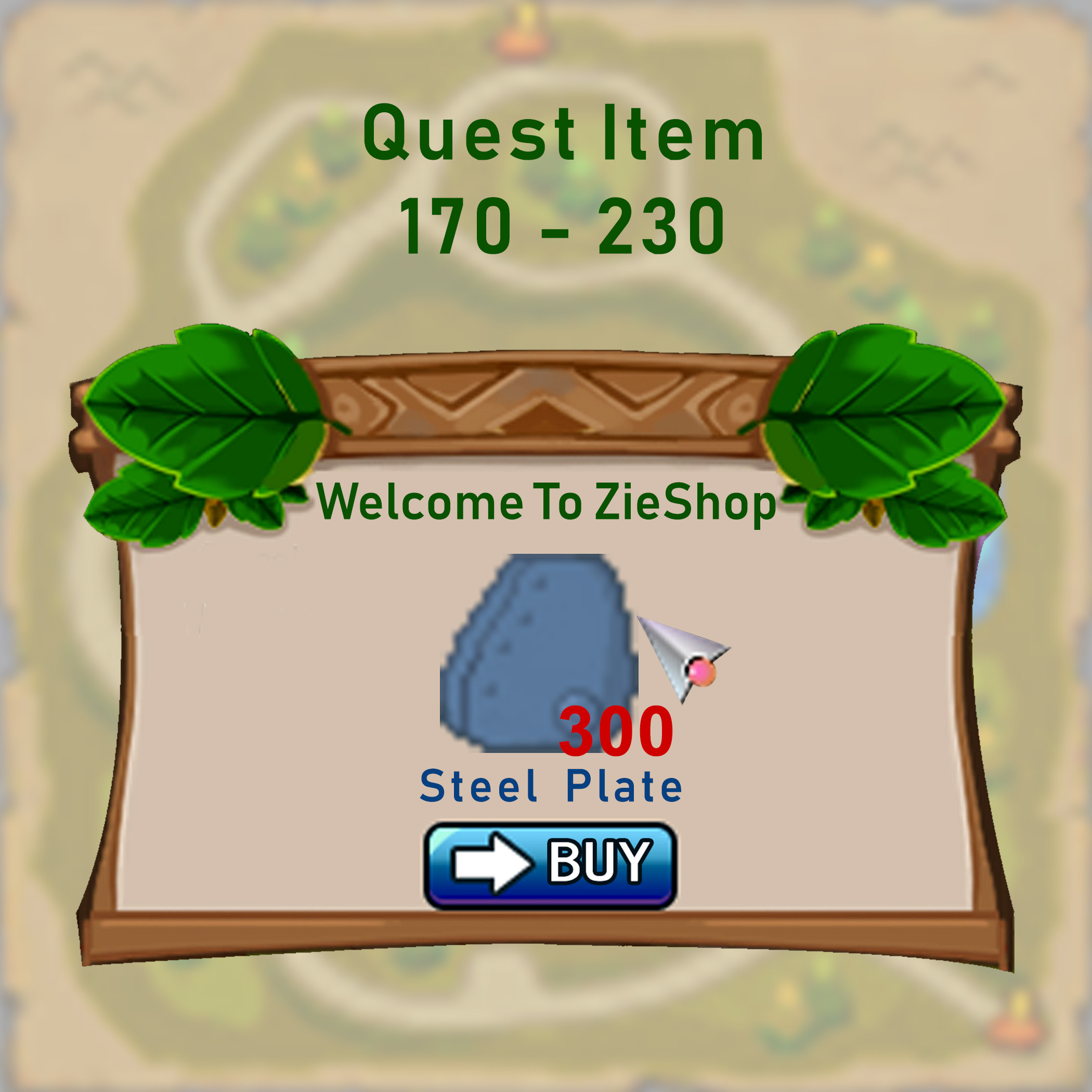 Steel Plate [ Quest lv 170 230 ] 300Buah