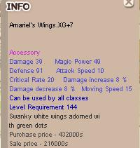 Amariel Wing XG +7