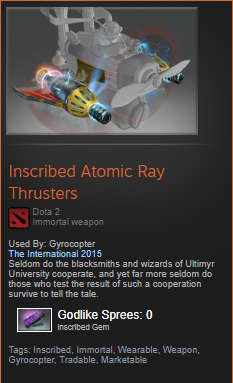 Inscribed Atomic Ray Thrusters (Immortal Gyrocopter)