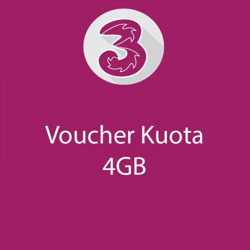 Voucher 4GB+8GB 4G+10GB Kendo 30hari