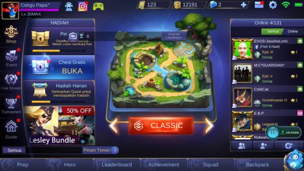 ML auto GG Skin & Hero bnyak Match 2k++