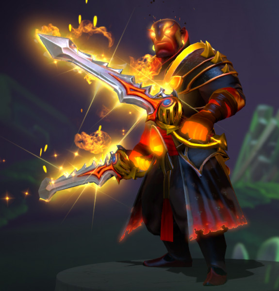 Genuine Rapiers of the Burning God (Immortal Ember Spirit Set)