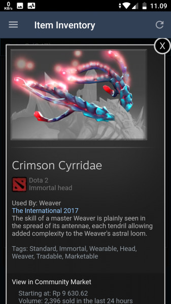 Crimson Cyrridae (Immortal TI7 Weaver)
