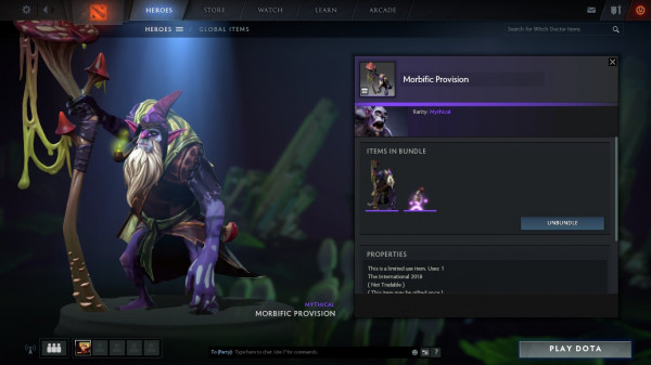 Morbific Provision (Witch Doctor Set)
