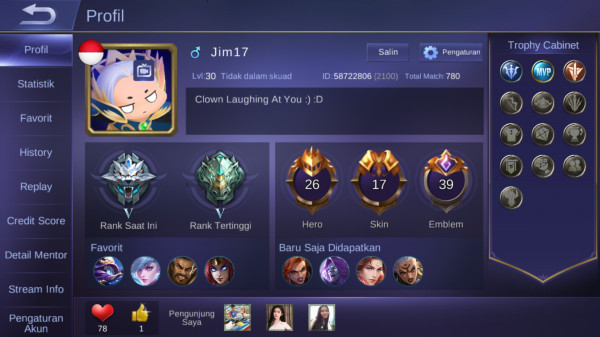 Hero 26 Skin 17|Grand Master V|All Unbint|Aman