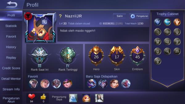 Hero 26 Skin 17|Limited Eudora|All Unbint|GM 3