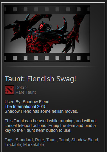 Taunt: Fiendish Swag! (Shadow Fiend)