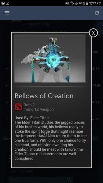 Bellows of Creation (Immortal TI7 Elder Titan)