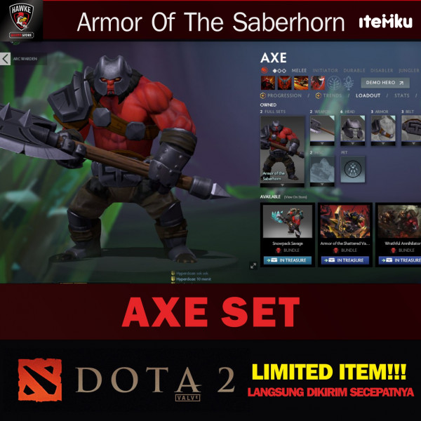 Armor of The Saberhorn (Axe Set)