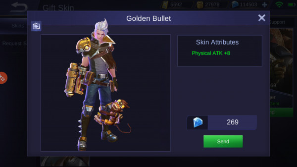 Golden Bullet (Skin Claude)