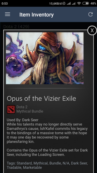 Opus of the Vizier Exile (Dark Seer Set)