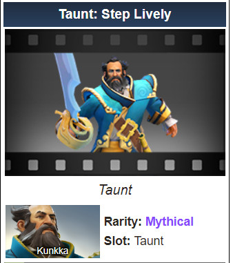 Taunt: Step Lively (Kunkka Taunt)