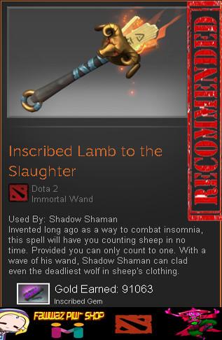 Inscribed Lamb to the Slaughter (Immortal Shadow Shaman)