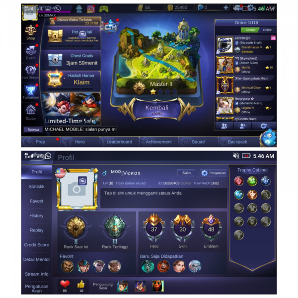 Hero 37 Skin 30 Epic zilong special clint layla