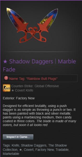 ★ Shadow Daggers | Crimson Web (★ Covert Knife)