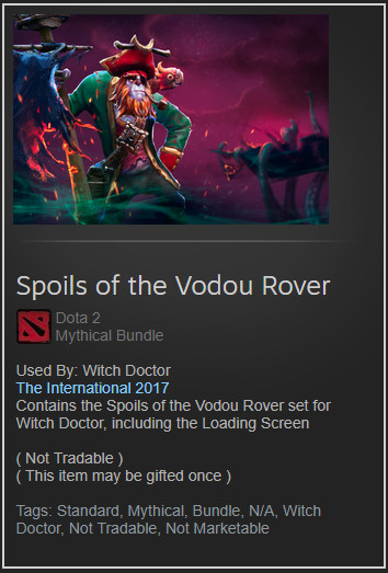 Spoils of the Vodou Rover (Witch Doctor Set)