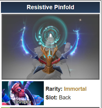 Inscribed Resistive Pinfold (Immortal Disruptor)