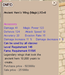 Ancient Hero's Wing Magic ( AHW M ) XG+9
