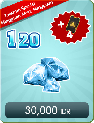 Top Up 120 Diamonds Weekly Special Offers