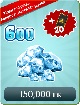 Top Up 600 Diamonds Weekly Special Offers