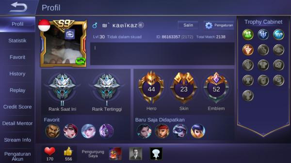 44 Hero + 23 Skin (Allunbind Mantap BosQ)