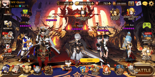 AKUN SEVEN KNIGHT GG | READY PVP PVE TINGGAL MAIN