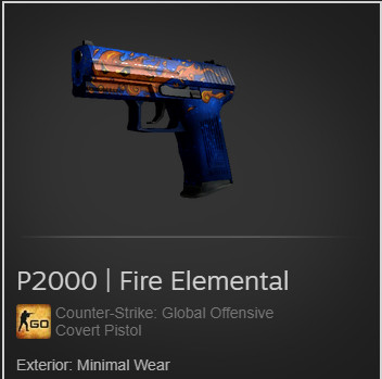 P2000 | Fire Elemental (Covert Pistol)