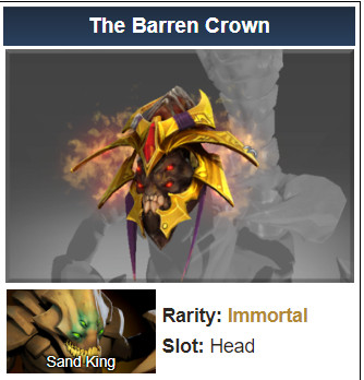 Inscribed The Barren Crown (Immortal Sand King)