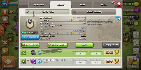 Clan Level 5 Termurah GG