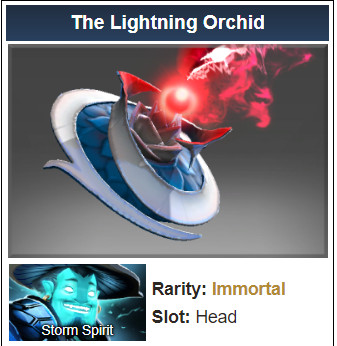 Inscribed The Lightning Orchid (Immortal Storm Spirit)