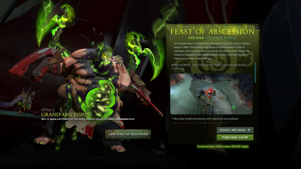 Exalted Feast of Abscession Style 2 (Arcana Pudge)
