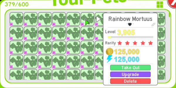 Pet simulator|| 10 Rainbow mortuus