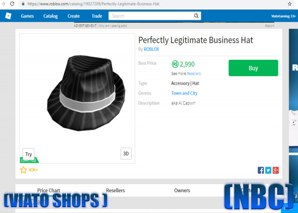Perfectly Legitimate Business Hat(NBC)