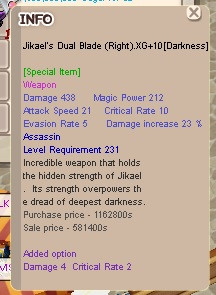 JDB Jikael Dual Blade LnR XG+10
