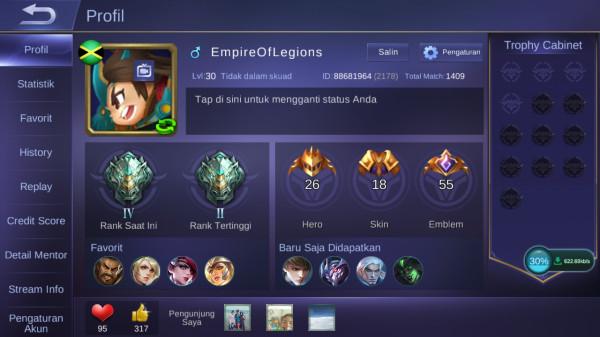 Akun Mobile Legend Hero28 Skin18 Starlight Layla Allunbind