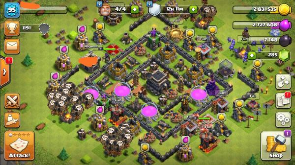 Clash of clans townhall 9 semimax mantap murah