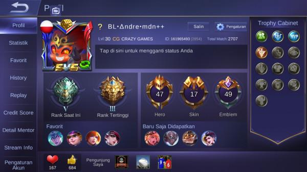 Epic/hero 47/skin 17/murah bos