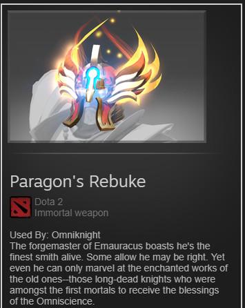 Paragon's Rebuke (Immo TI8 Omniknight)