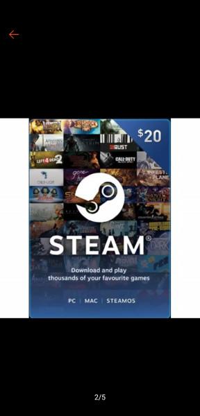 Steam wallet USD 20$