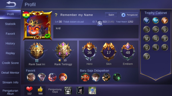 Hero 36, Skin 17 [ WinRate GG, Skin Kece ]