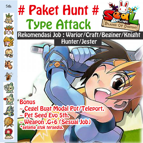 Paket #1 Level Rendah Attack - All Job