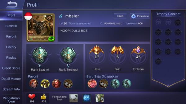 Level 30/hero 17/skin 5 elite balmond