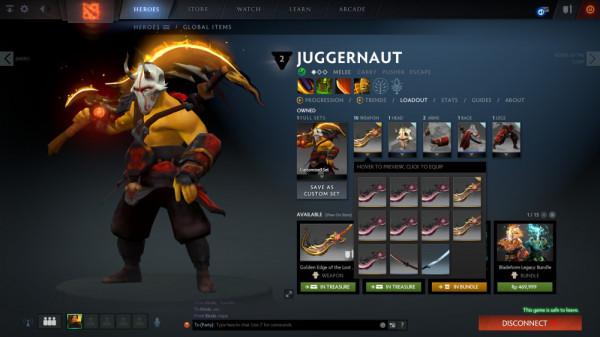 Golden Edge of The Last Order (Immortal TI8 Juggernaut)