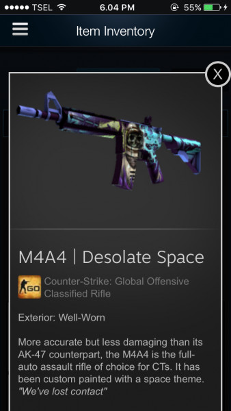 M4a4 | desolate space