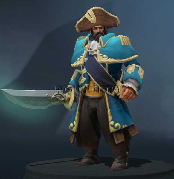 The Commendable Commodore (Kunkka Set)