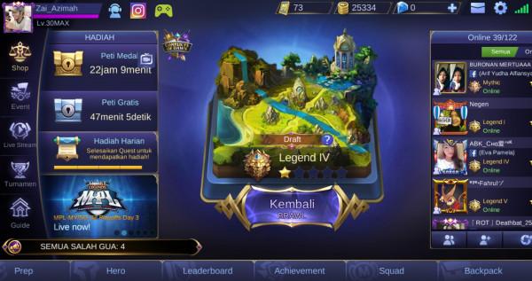 Akun Mobile Legend WR GG Langka